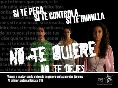 Si te pega, te controla, te humilla, no te quiere, no te dejes.