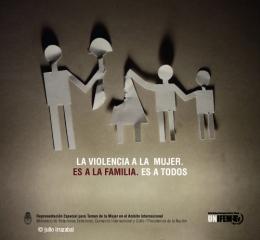 Si el hombre maltrata, golpea, humilla, desprecia a la mujer, lo hace con todos sus hijos e hijas. Eso no es familia.