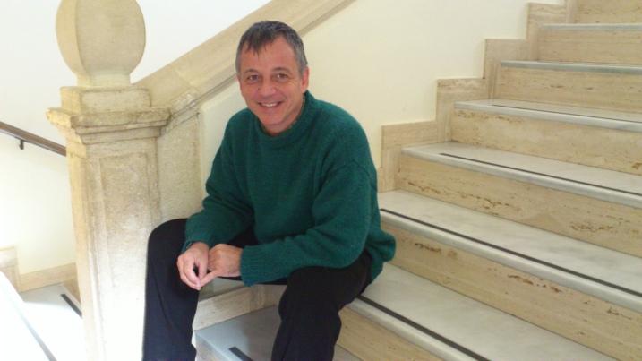 Joan Font Fábregas, en la sede del Iesa-Cisc, en Córdoba.