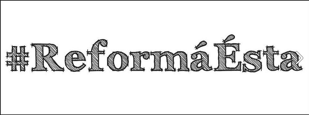 El Presidente de Nicaragua, Daniel Ortega, quiere reformar las Constitución Política del país, para reelegirse en el poder por siempre, entre otros asuntos en los que también quiere poder absoluto. La respuesta popular en las redes sociales ha sido: #ReformáÉsta, que quiere simbolizar en palabras lo que gestualmente en buen nicaragüense  sería una guatuza, un rechazo a sus reformas. (Photo by: icono anónimo que circula por la red).