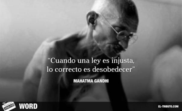 Mahatma Gandhi (Porbandar, India británica, 2 de octubre de 1869 – Nueva Delhi, Unión de la India, 30 de enero de 1948).