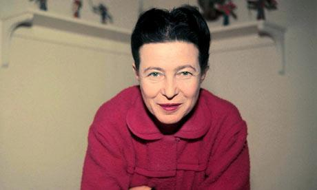 Simone de Beauvoir. (Fotografía tomada de The Guardian, UK).
