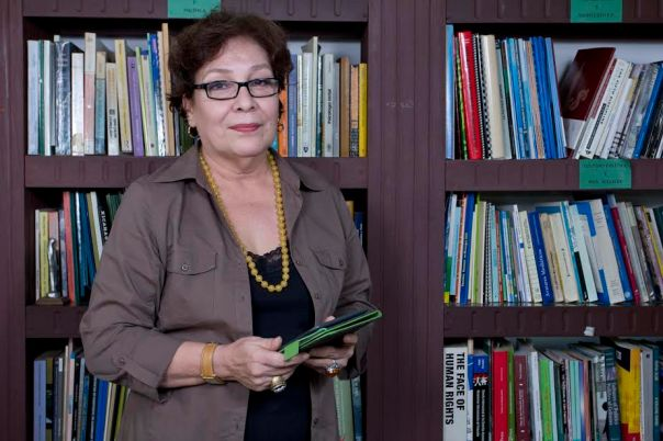 Sofía Montenegro, en su despacho del Centro de Investigación de la Comunicación (Cinco), en Managua, Nicaragua. (Photo by Jorge Mejía Peralta).