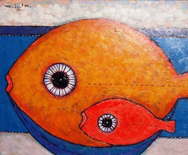 Guapa, guapote. Obra de Efrén Medina (Nicaragua).