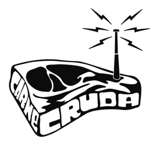 Logo del programa Carne Cruda.