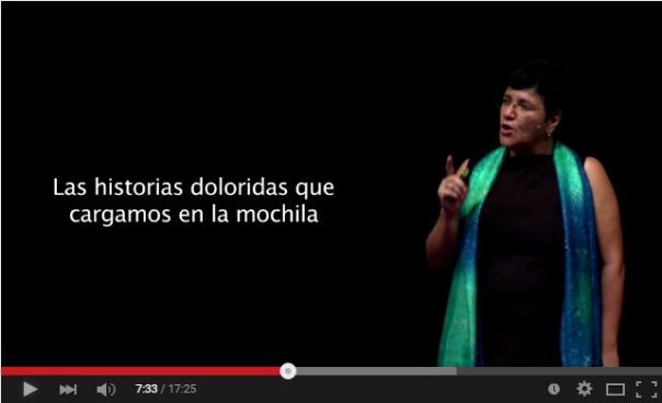 Toma de pantalla del video de la conferencia de la Dra. Martha Cabrera, durante el TedxManagua.